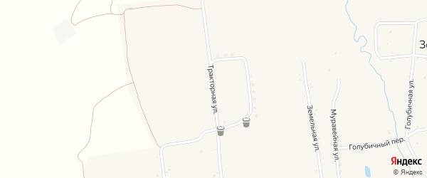 Тракторная улица на карте населенного пункта Зельвино с номерами домов