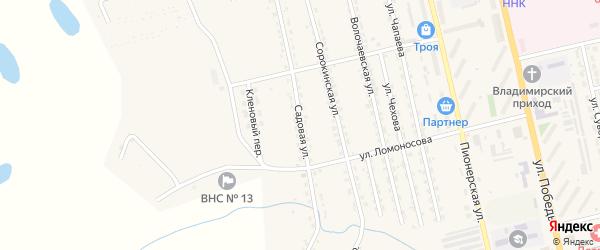 Садовая улица на карте Райчихинска с номерами домов