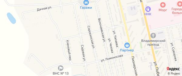 Сорокинская улица на карте Райчихинска с номерами домов