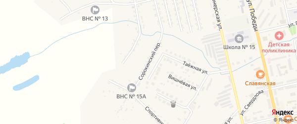 Сорокинский переулок на карте Райчихинска с номерами домов