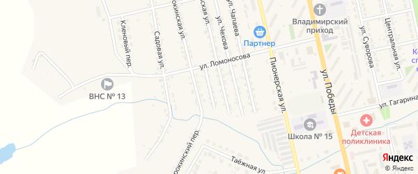 Улица Л.Толстого на карте Райчихинска с номерами домов