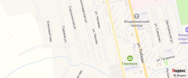 Улица Ломоносова на карте Райчихинска с номерами домов
