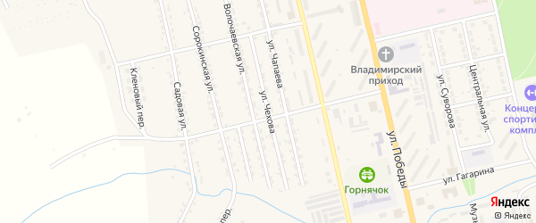 Улица Чехова на карте Райчихинска с номерами домов