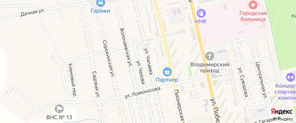 Улица Чапаева на карте Райчихинска с номерами домов
