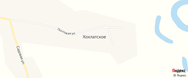 Почтовая улица на карте Хохлатского села с номерами домов
