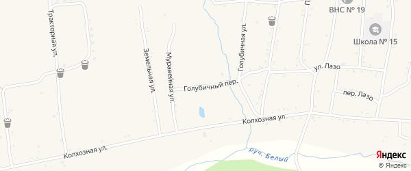 Голубичная улица на карте населенного пункта Зельвино с номерами домов