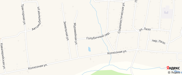 Голубичная улица на карте Райчихинска с номерами домов