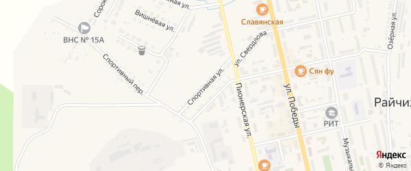 Спортивная улица на карте Райчихинска с номерами домов