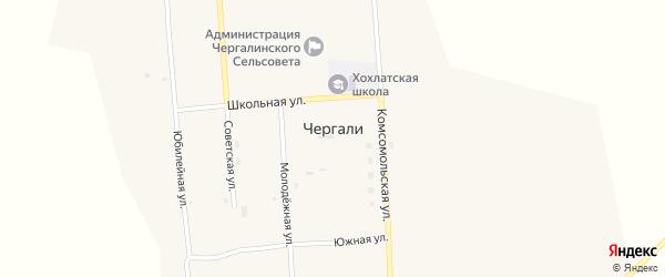Юбилейная улица на карте села Чергали с номерами домов