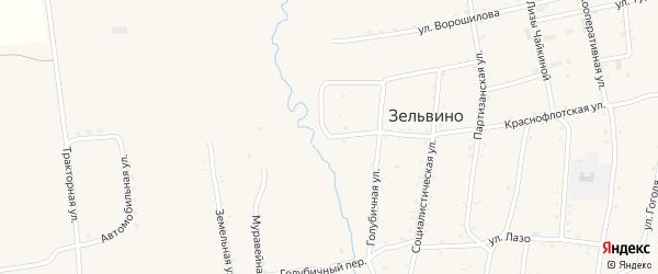 Кавалерийская улица на карте населенного пункта Зельвино с номерами домов