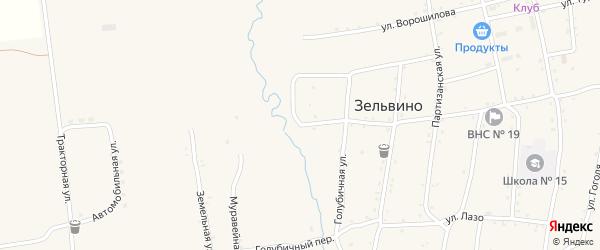 Краснофлотская улица на карте населенного пункта Зельвино с номерами домов