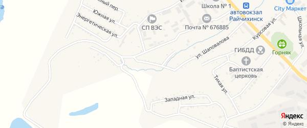 Мостовой переулок на карте Райчихинска с номерами домов