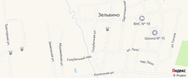 Автомобильная улица на карте населенного пункта Зельвино с номерами домов