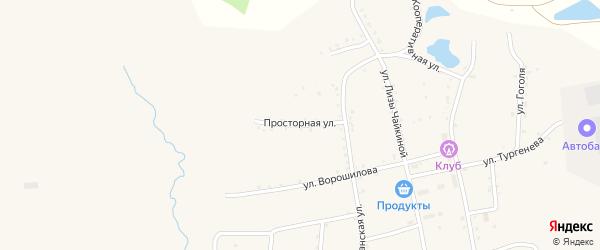 Просторная улица на карте населенного пункта Зельвино с номерами домов