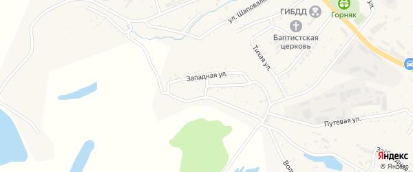Западный переулок на карте Райчихинска с номерами домов