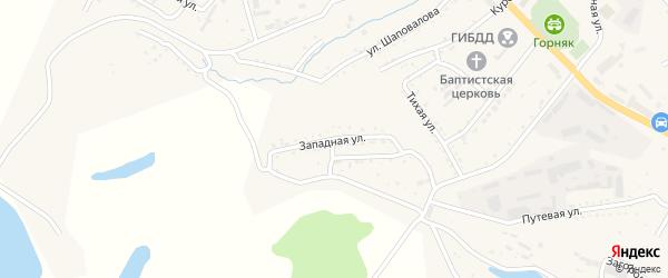 Западная улица на карте Райчихинска с номерами домов