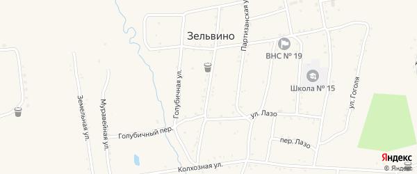 Социалистическая улица на карте населенного пункта Зельвино с номерами домов