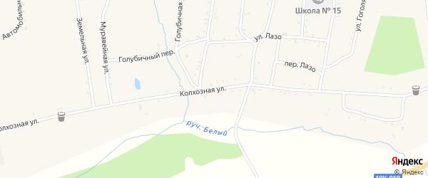 Колхозная улица на карте населенного пункта Зельвино с номерами домов