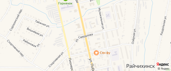 Улица Свердлова на карте Райчихинска с номерами домов