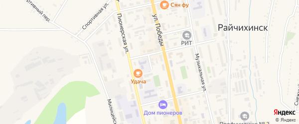 Переулок Мухина на карте Райчихинска с номерами домов