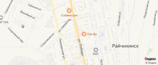 Коммунистическая улица на карте Райчихинска с номерами домов