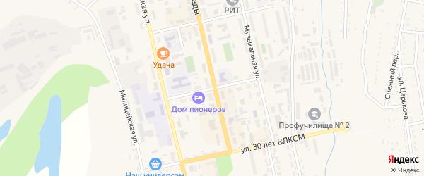 Улица им В.Ф.Зарубова на карте Райчихинска с номерами домов