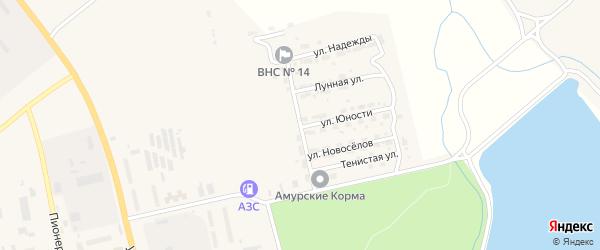 Улица Шахтерской Славы на карте Райчихинска с номерами домов