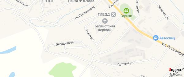 Тихая улица на карте Райчихинска с номерами домов