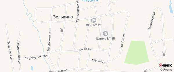 Краснофлотский переулок на карте населенного пункта Зельвино с номерами домов