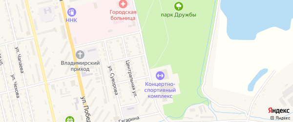 Комсомольская улица на карте Райчихинска с номерами домов