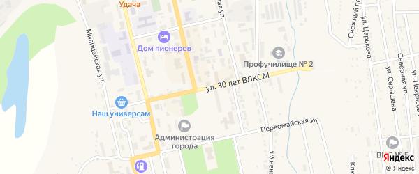Улица 30 лет ВЛКСМ на карте Райчихинска с номерами домов