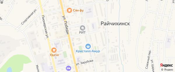 Музыкальная улица на карте Райчихинска с номерами домов