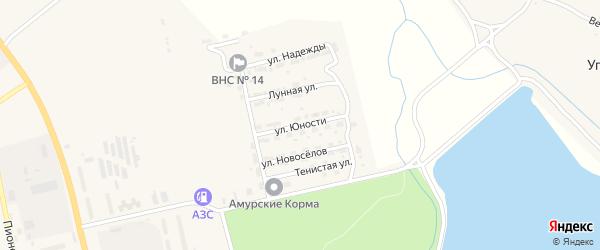 Улица Юности на карте Райчихинска с номерами домов