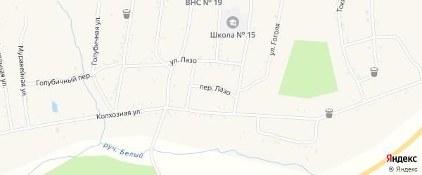 Переулок Лазо на карте населенного пункта Зельвино с номерами домов