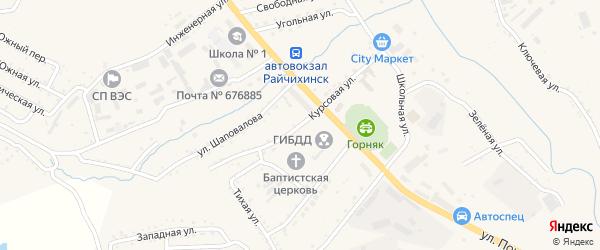 Курсовая улица на карте Райчихинска с номерами домов