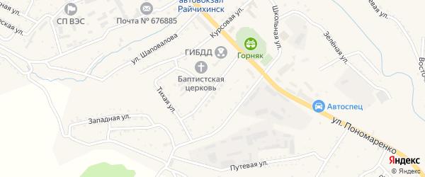 Новая улица на карте Райчихинска с номерами домов