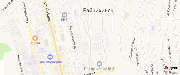 Озерная улица на карте Райчихинска с номерами домов