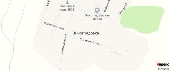 Школьный переулок на карте села Виноградовки с номерами домов
