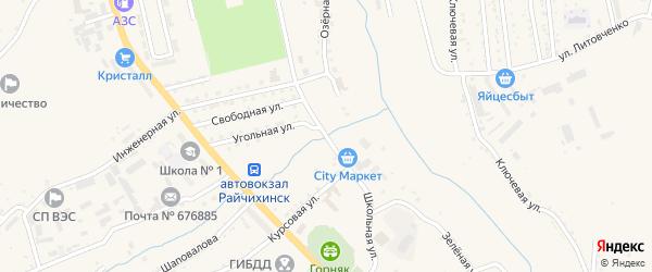 Школьная улица на карте Райчихинска с номерами домов