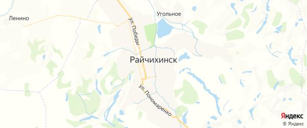Карта Райчихинска с районами, улицами и номерами домов