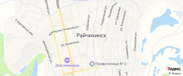 Карта населенного пункта Зельвино города Райчихинска в Амурской области с улицами и номерами домов