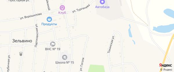 Улица Гоголя на карте населенного пункта Зельвино с номерами домов