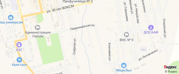 Первомайский переулок на карте Райчихинска с номерами домов