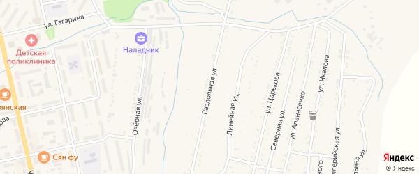 Раздольная улица на карте Райчихинска с номерами домов