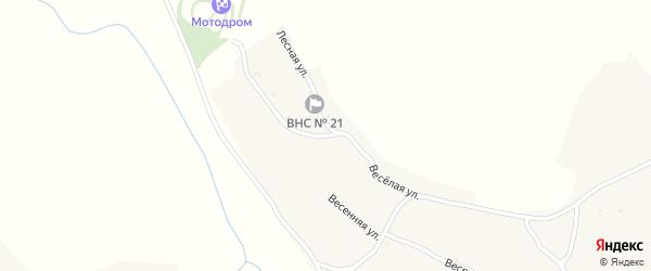Лесная улица на карте Угольного села с номерами домов