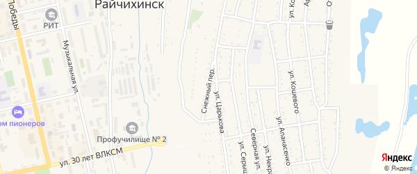 Снежный переулок на карте Райчихинска с номерами домов