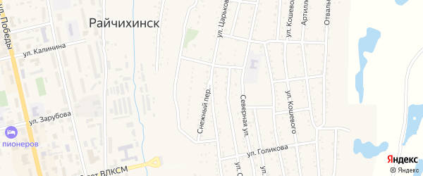 Улица Царькова на карте Райчихинска с номерами домов