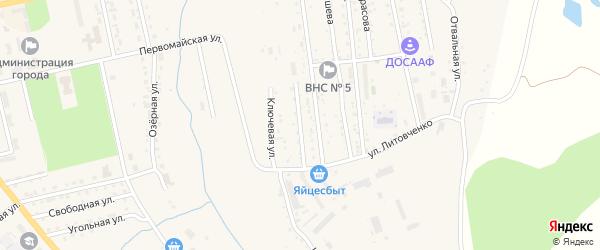 Ключевой переулок на карте Райчихинска с номерами домов