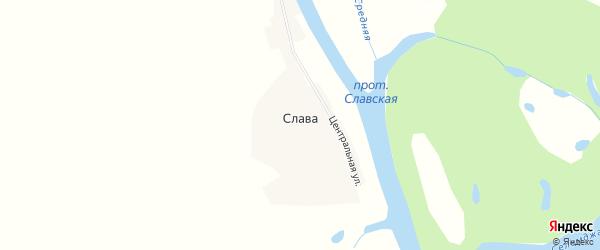 Карта села Славы в Амурской области с улицами и номерами домов