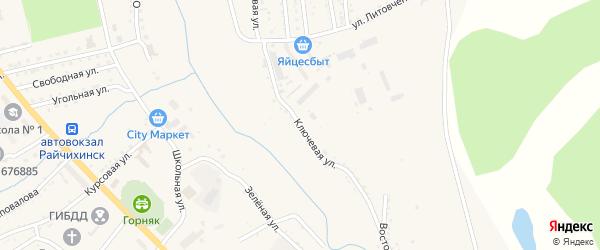 Ключевая улица на карте Райчихинска с номерами домов